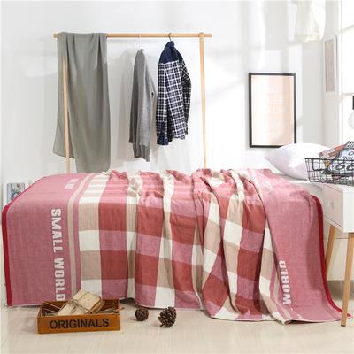 2018新款盖毯系列 定版系列盖毯 小世界(总) 150*200cm 红