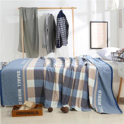 2018新款盖毯系列 定版系列盖毯 小世界(总) 150*200cm 蓝