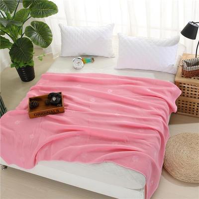 2018新款盖毯系列 蜂巢系列盖毯 爱的印记 粉色 150*200cm 粉色