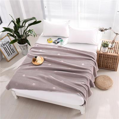 2018新款盖毯系列 蜂巢系列盖毯 爱的印记 紫灰 150*200cm 紫灰
