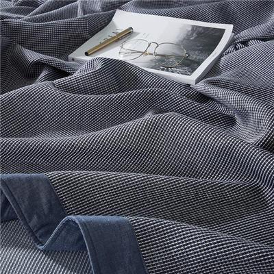 2018新款盖毯系列 蜂巢系列盖毯 包边系列(部分花色可加枕巾)(总) 150*200 蓝