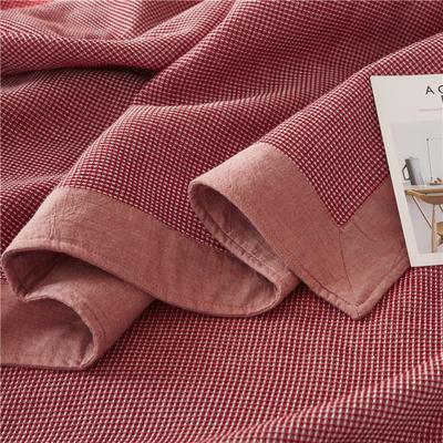2018新款盖毯系列 蜂巢系列盖毯 包边系列(部分花色可加枕巾)红 150*200 红
