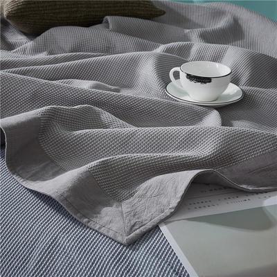 2018新款盖毯系列 蜂巢系列盖毯 包边系列(部分花色可加枕巾)灰 150*200 灰
