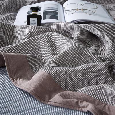2018新款盖毯系列 蜂巢系列盖毯 包边系列(部分花色可加枕巾)浅咖 150*200 浅咖