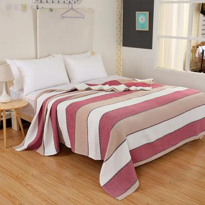 2018新款盖毯系列 三层纱布盖毯-多彩系列 波浪 红 150*200 红