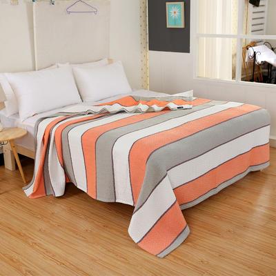 2018新款盖毯系列 三层纱布盖毯-多彩系列 波浪 桔 150*200 桔