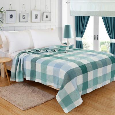 2018新款盖毯系列 三层纱布盖毯-多彩系列 小格 兰 150*200 兰