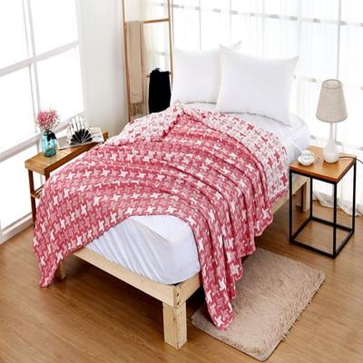 2018新款盖毯系列 三层水洗棉盖毯(总) 1.5米 风车 红色