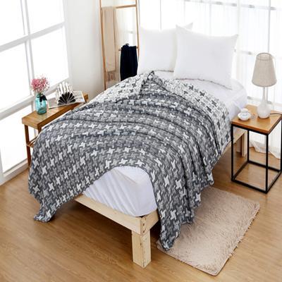 2018新款盖毯系列 三层水洗棉盖毯 风车 黑灰 1.5米 黑灰