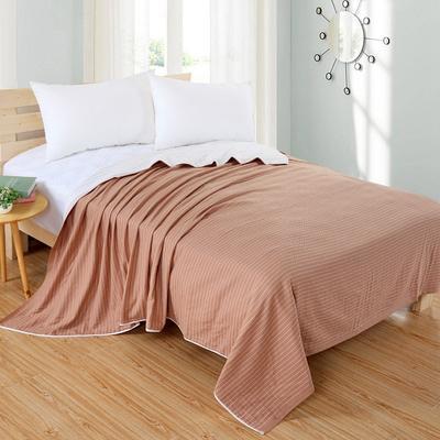 2018新款盖毯系列 三层条纹盖毯 条纹棕 150*200cm 条纹棕