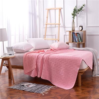 2018新款盖毯系列 天蚕丝纱布毯-树叶(总) 150*200 粉色