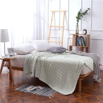 2018新款盖毯系列 天蚕丝纱布毯-树叶(总) 150*200 灰色