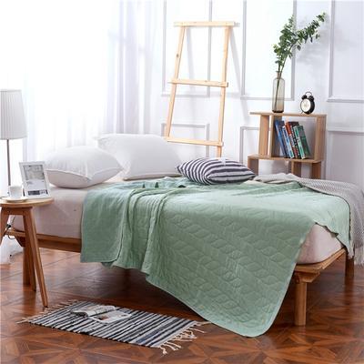 2018新款盖毯系列 天蚕丝纱布毯-树叶 绿色 150*200 绿色