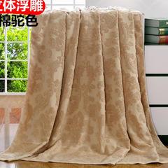 2018新款毛巾被系列 欧雅老式毛巾被(总) 150*200 驼色