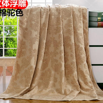 2018新款毛巾被系列 欧雅老式毛巾被(总) 70*140 驼色
