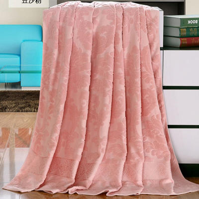2018新款毛巾被系列 欧雅老式毛巾被 豆沙粉 70*140 豆沙粉