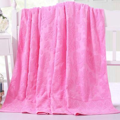 2018新款毛巾被系列 欧雅老式毛巾被 粉 150*200 粉
