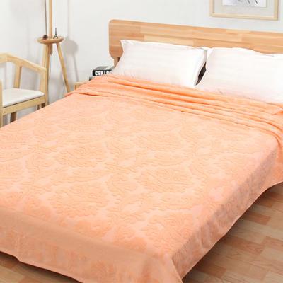 2018新款毛巾被系列 欧雅老式毛巾被 橘色 150*200 橘色