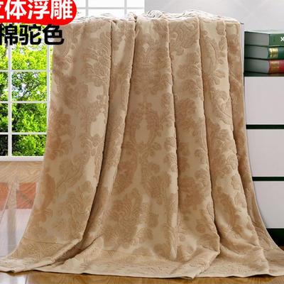 2018新款毛巾被系列 欧雅老式毛巾被 驼色 70*140 驼色