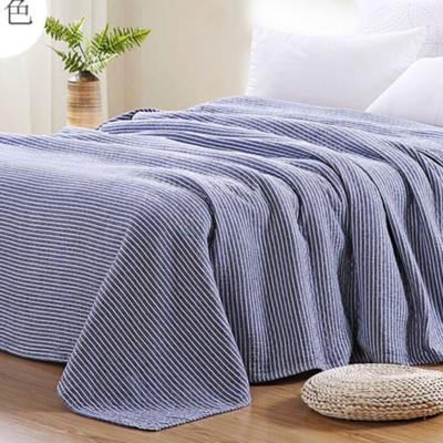 2018新款 水洗棉毯(总) 150*200cm 条纹 蓝