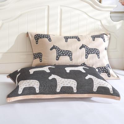 枕巾枕头 四层起皱枕巾5-78CM  小马米 小马 米