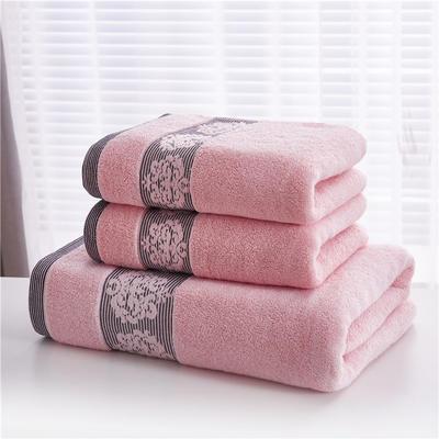 2018新款家用毛巾浴巾-欧尚 粉色(浴巾)