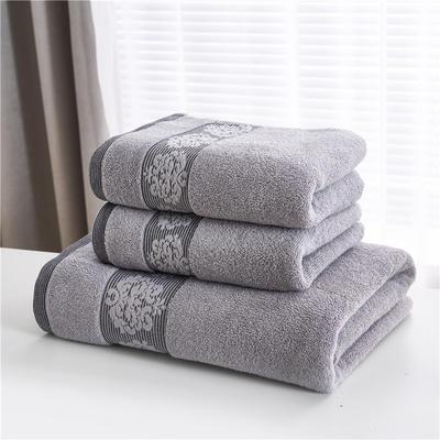 2018新款家用毛巾浴巾-欧尚 灰色(浴巾)