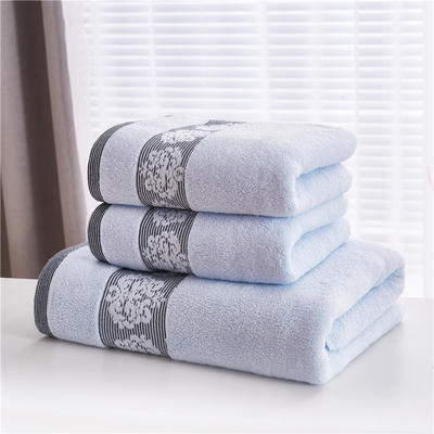 2018新款家用毛巾浴巾-欧尚 蓝色(浴巾)