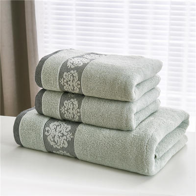 2018新款家用毛巾浴巾-欧尚 绿色(浴巾)
