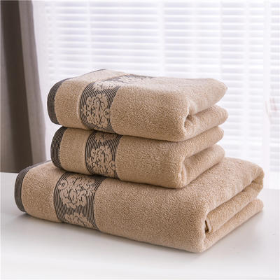 2018新款家用毛巾浴巾-欧尚 棕色(浴巾)