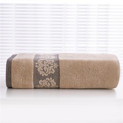 2018新款家用毛巾浴巾-欧尚 棕色(毛巾)