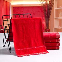 2018新款婚庆系列红毛巾 关雎 红毛巾(34*76cm)