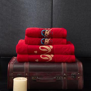 2019新款婚庆浴巾-相伴一生 70*140cm