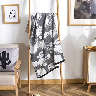 2019新款全棉浴巾-70*140cm 水墨-灰