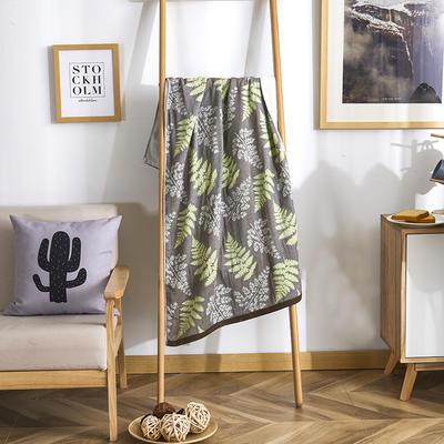2019新款全棉浴巾-70*140cm 相思-绿