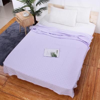 2019新款艾草纱布毯 150*200cm 浅紫