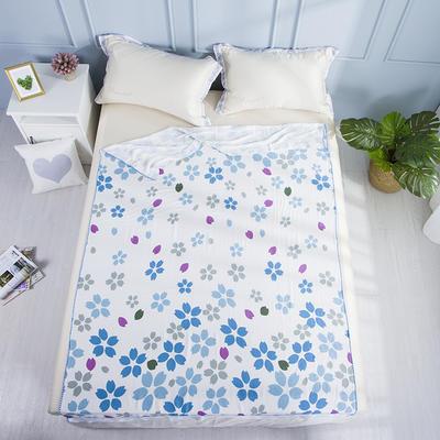 2019新款亲肤竹纤维冷感毯 150cmx200cm 彩色花朵