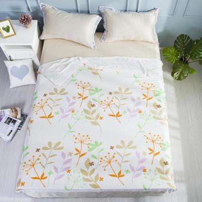 2019新款亲肤竹纤维冷感毯 150cmx200cm 桔绿橄榄枝