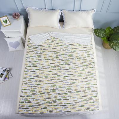 2019新款亲肤竹纤维冷感毯 150cmx200cm 桔绿鱼