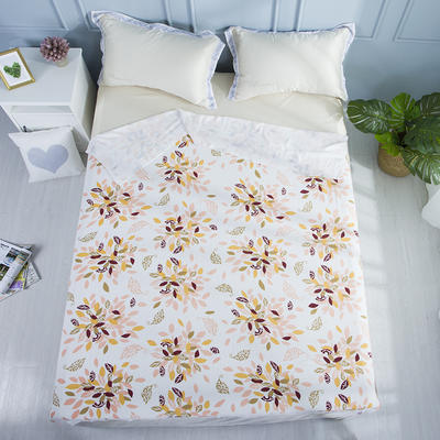 2019新款亲肤竹纤维冷感毯 150cmx200cm 桔紫卷草