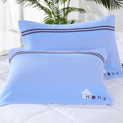 2019新款6层纱枕巾53cm*78cm 房子-蓝色/对