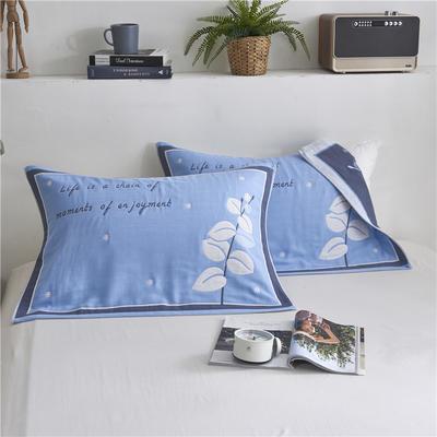2019新款6层枕巾- 52*78cm 蓝色