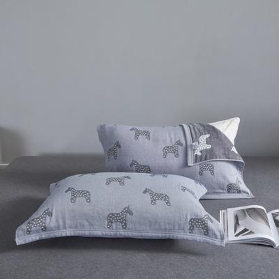 枕巾枕头 四层起皱枕巾5-78CM (总) 小马