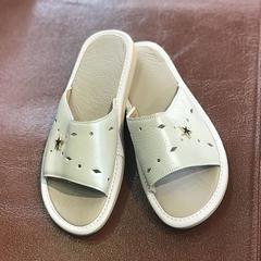 2019新款牛筋底拖鞋-女款 35-36码 女款白色