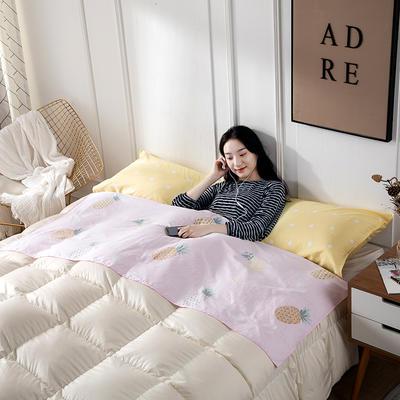 2019新款全棉隔脏睡袋 菠萝密语-粉(0.8*2.3)