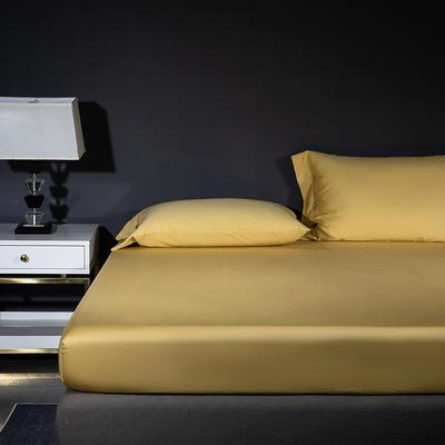 2019新品A类60S长绒棉全棉单品床笠 单床笠:150cmx200cm 黄色