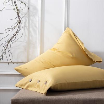 2019新品A类60S长绒棉全棉单品枕套 48cmX74cm/对 黄色