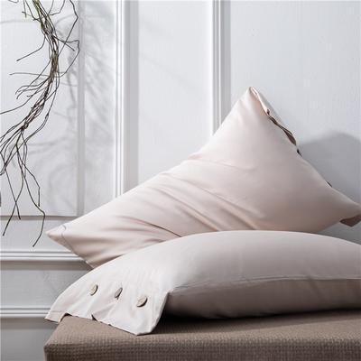 2019新品A类60S长绒棉全棉单品枕套 48cmX74cm/对 浅卡其
