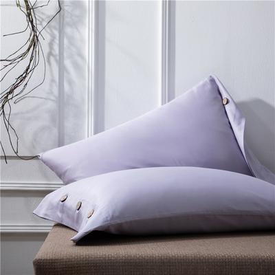 2019新品A类60S长绒棉全棉单品枕套 48cmX74cm/对 烟灰紫