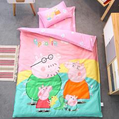 全棉活性13372大版系列幼儿园儿童套件 丝绵双胆款七件套 七件套 佩奇一家